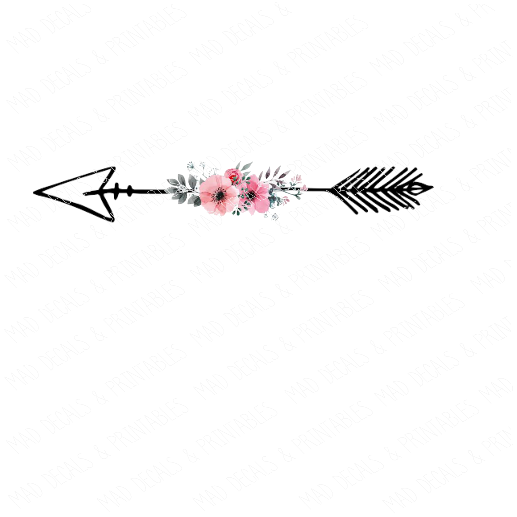 Floral Arrow #2-Digital Download