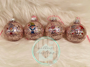 Set Of 4 Scandinavian Gnome Bubble Gum Pink Ornaments**ON SALE**RTS**