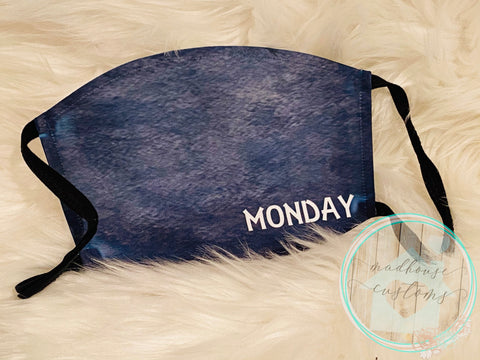 """Monday Mask""*Days Of The Week**Clearance**"