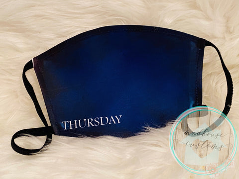 """Thursday Mask""*Days Of The Week*Clearance**"