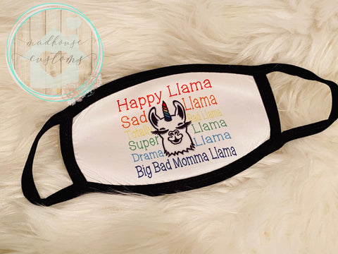 """Happy Llama Mask""**Clearance**"