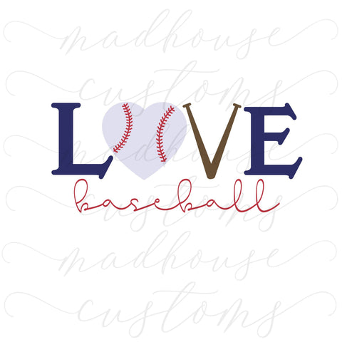 Baseball Love-Digital Download