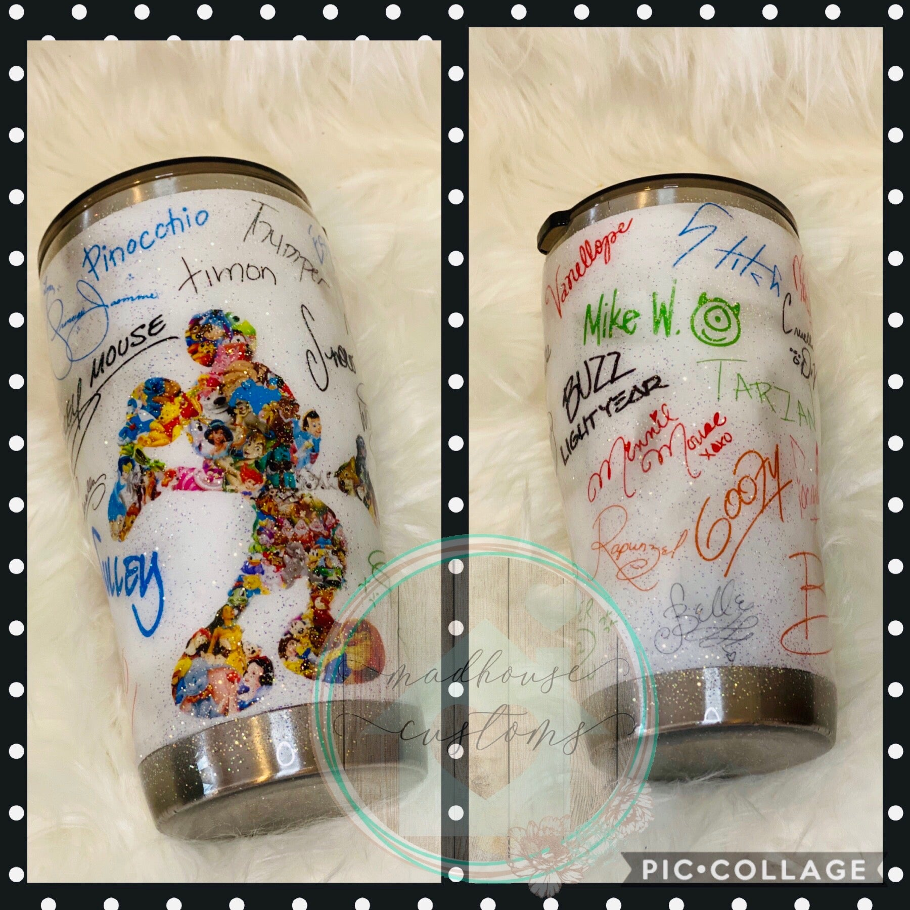 20 Oz. Disney Mickey & Autographs Tumbler (RTS) *Ready To Sell*