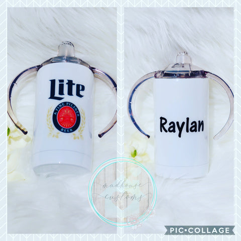 Miller Lite Sippy Cup*Customize With Name/Saying*