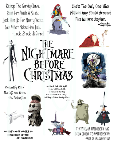 Nightmare Before Christmas Fan Sheet-DD