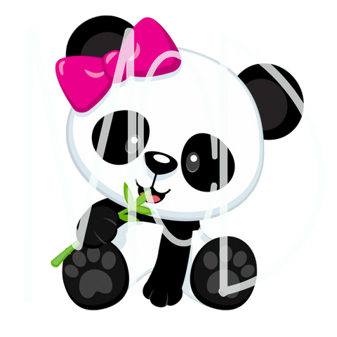 Panda W/Pink Bow-Digital Download
