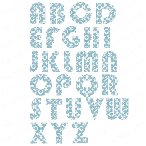 Patterned Alphabet #2-Digital Download