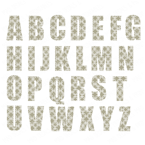 Patterned Alphabet #1