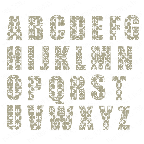 Patterned Alphabet #1-Digital Download
