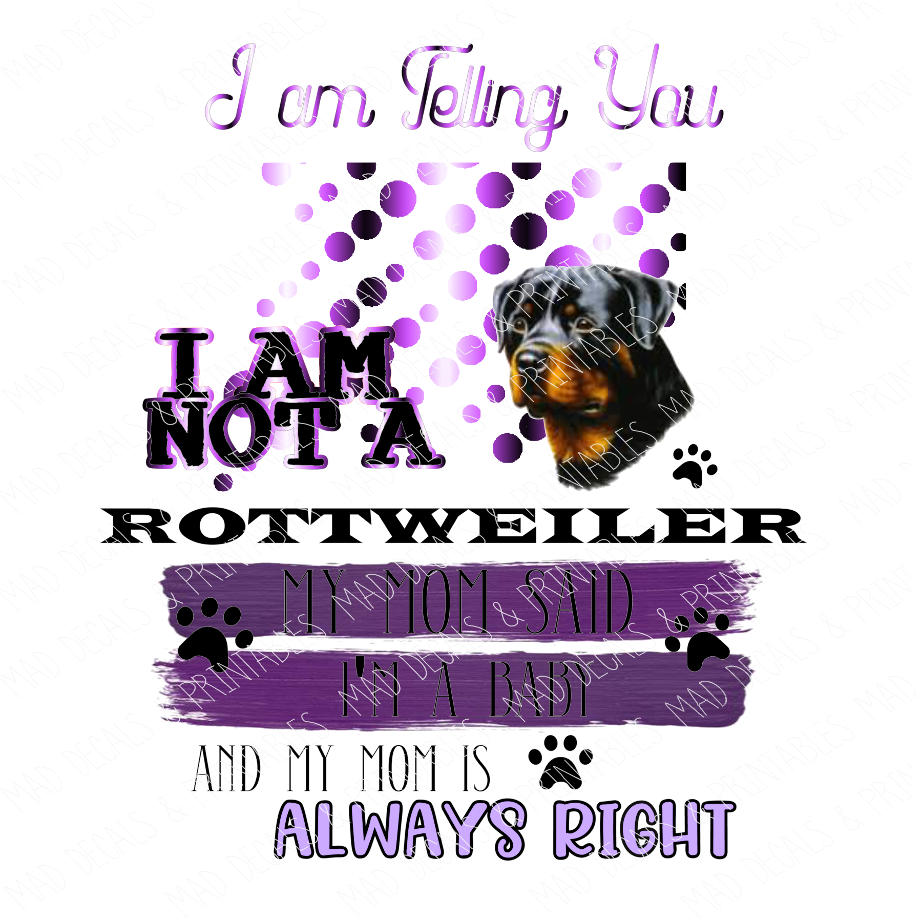 Rottweiler-Purple-Digital Download