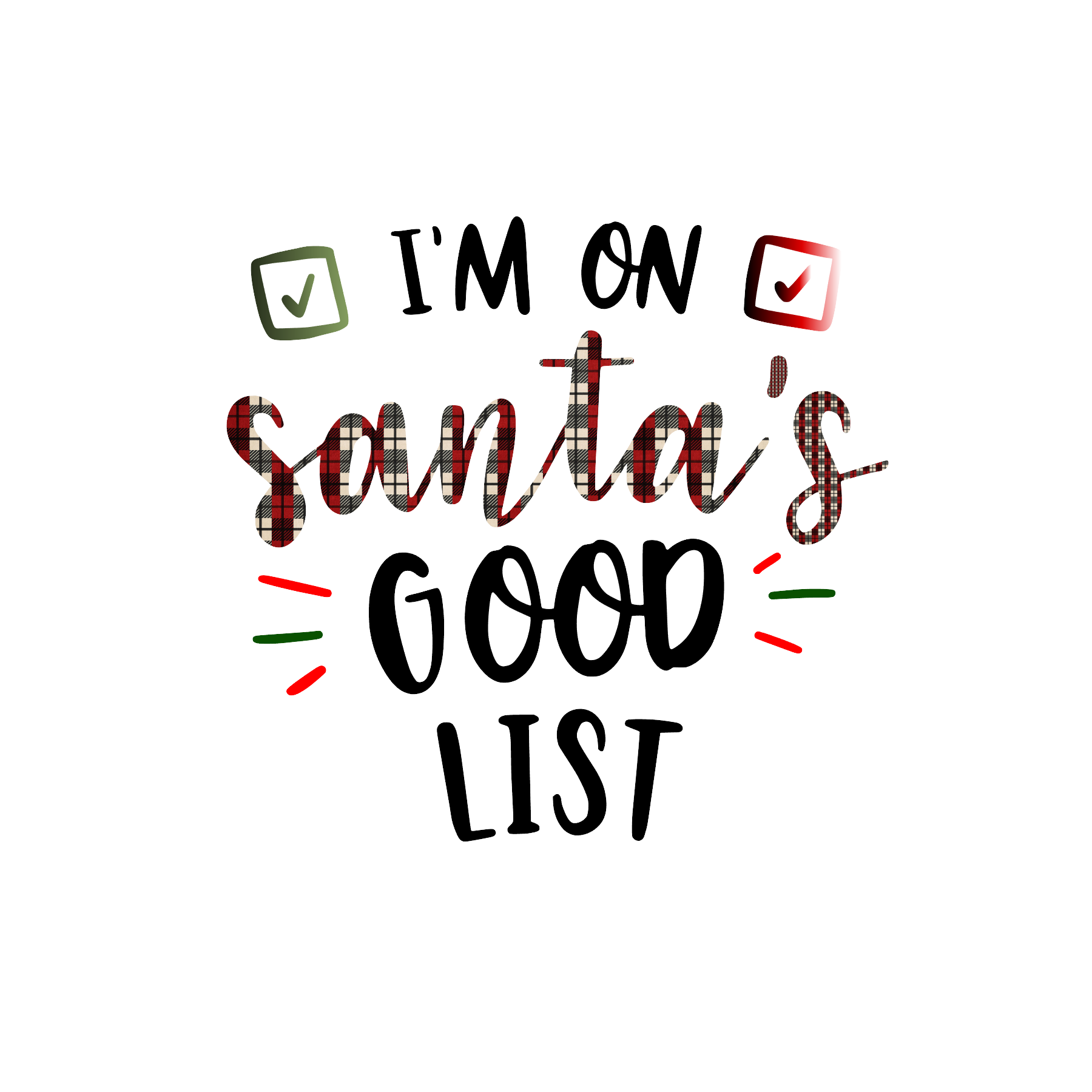 Santa's Good List-Digital Download
