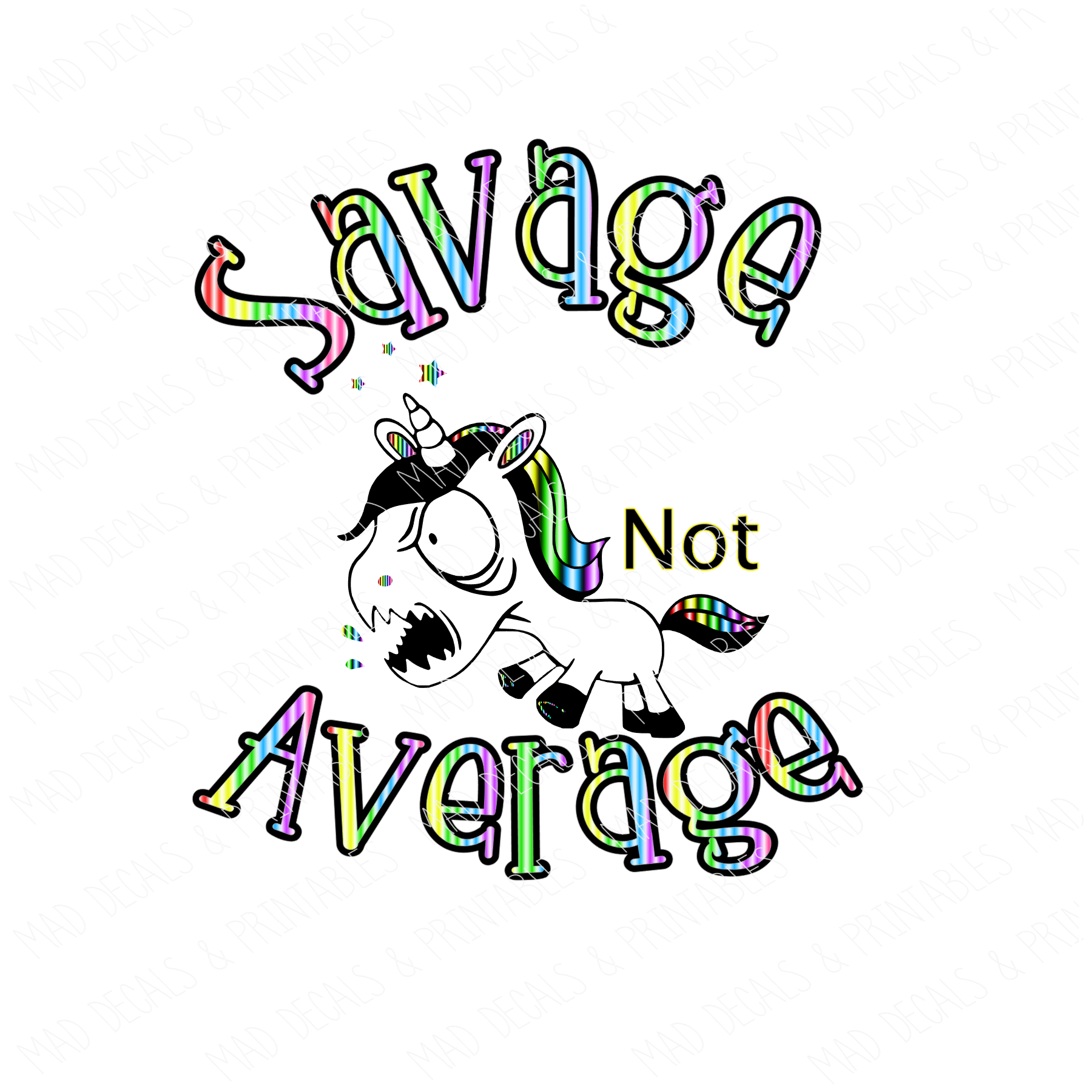 Savage Not Average-Digital Download