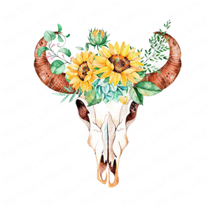 Sunflower Skull
