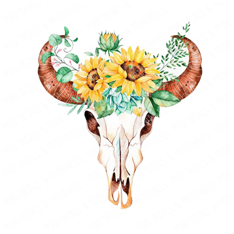 Sunflower Skull-Digital Download