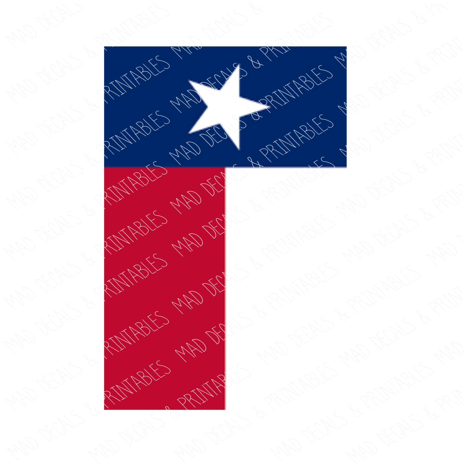 Texas State Flag #3-Digital Download
