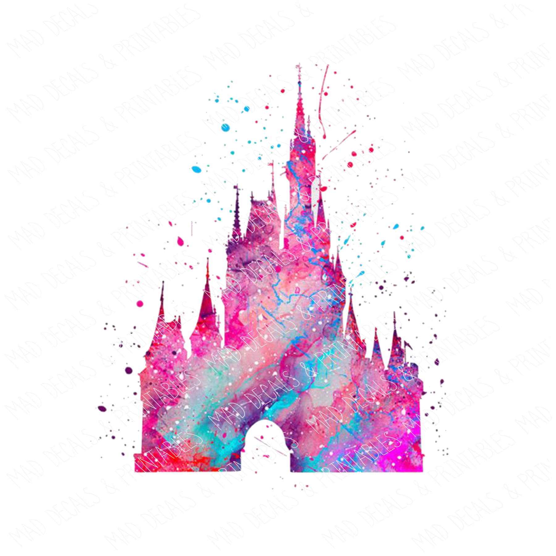 Watercolor Disney Castle #1-Digital Download
