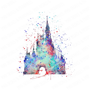 Watercolor Disney Castle #2