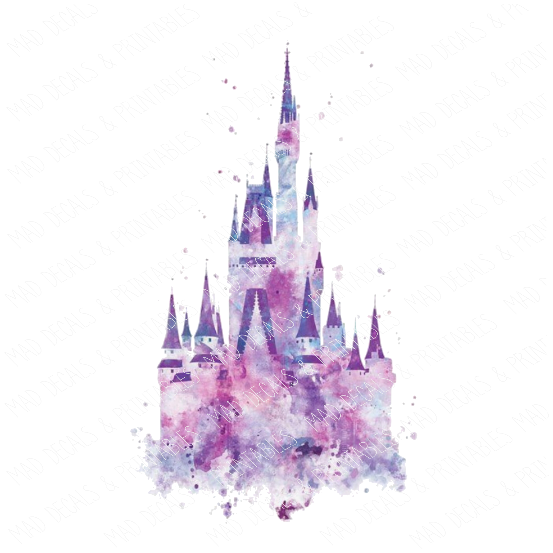 Watercolor Disney Castle #3-Digital Download