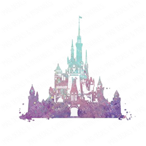 Watercolor Disney Castle #4