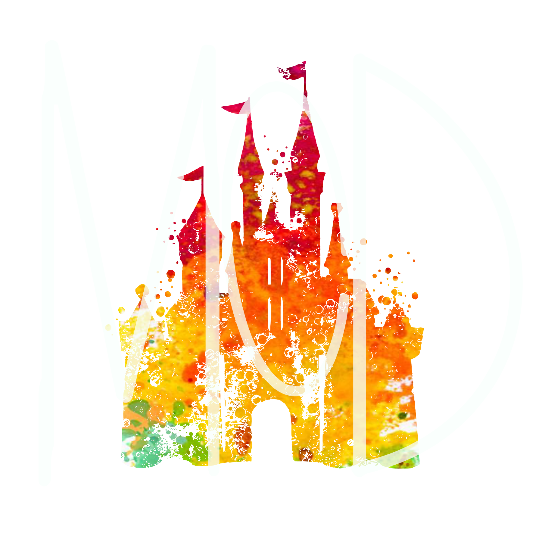 Watercolor Disney Castle #8