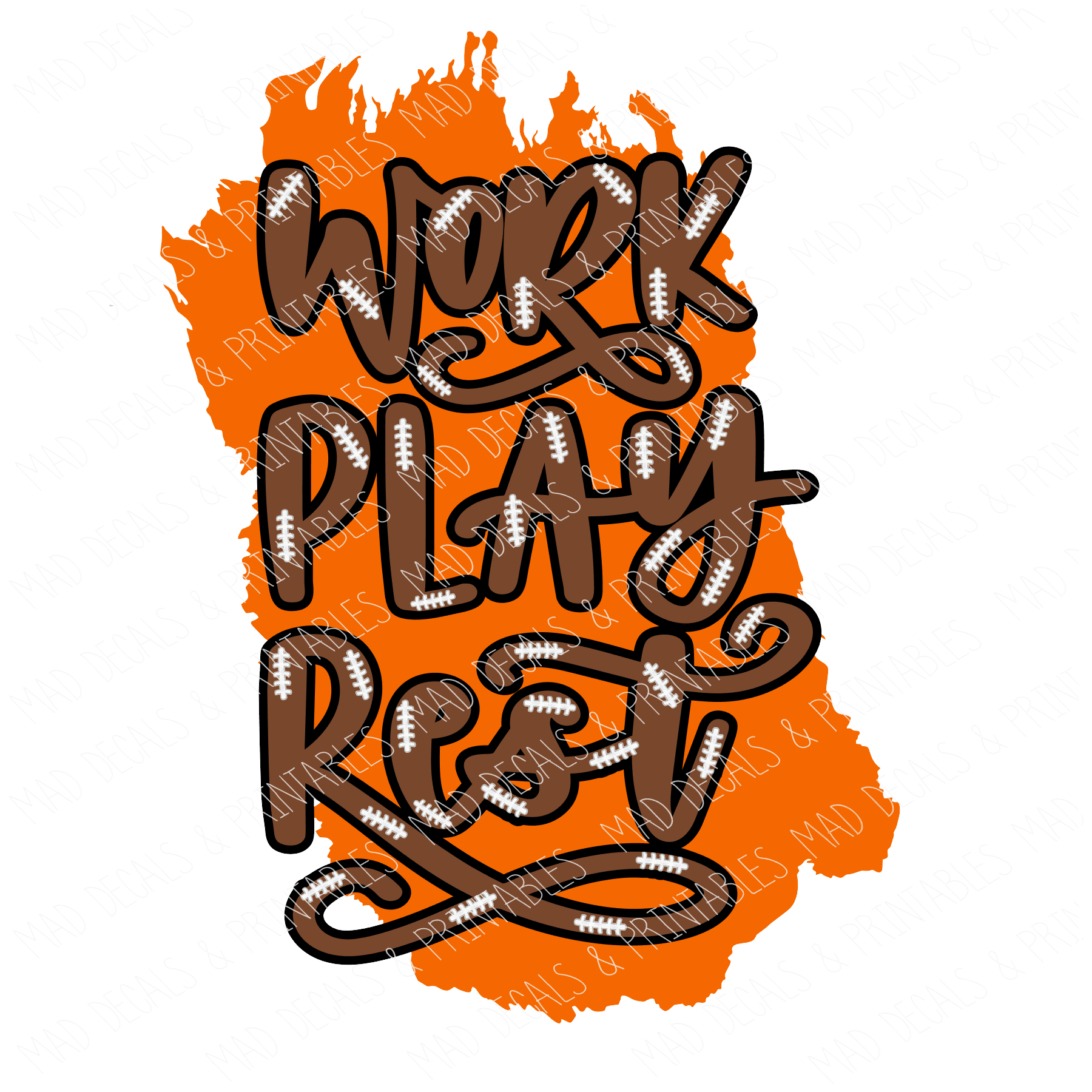 Orange Work Play Rest