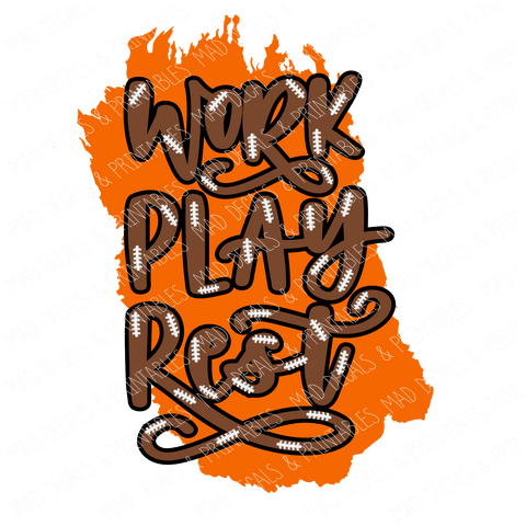 Orange Work Play Rest-Digital Download