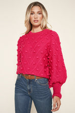 Load image into Gallery viewer, Pom Pom puff Sweater