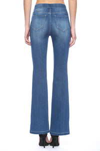 Mid Rise Medium Denim Pull On