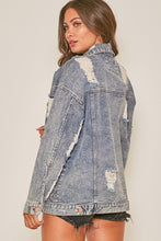 Load image into Gallery viewer, Star Denim Distressed Jacket