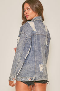 Star Denim Distressed Jacket