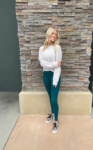 Green Soft Pocket Leggings