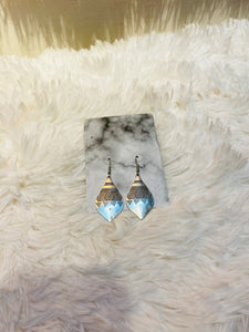Silver Bohemian Tear Earrings