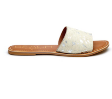 Load image into Gallery viewer, Silver Spot Cow Sandals
