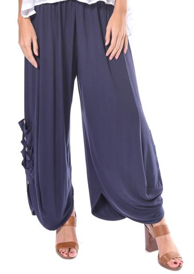 Button Side Tulip Pant