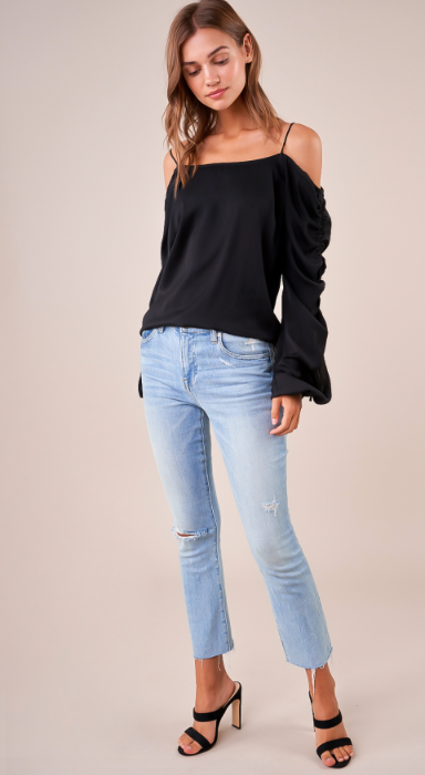 Bali Cold Shoulder Top