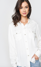 Load image into Gallery viewer, Elani Lon Sleeve Button Down Shirt