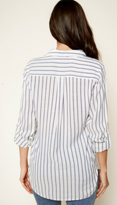 Ocean Holiday Button Down Blouse