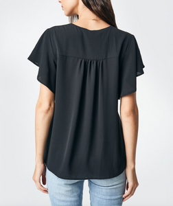 Arissa Flutter Sleeve Blouse