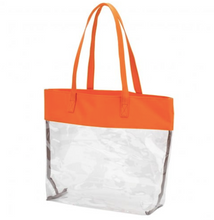 Load image into Gallery viewer, Orange Clear Tote