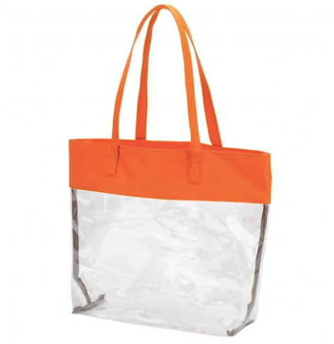 Orange Clear Tote