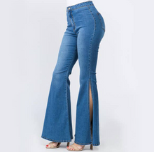 Load image into Gallery viewer, Bell Slit High Waist Jeans