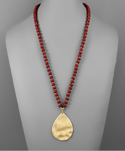 Load image into Gallery viewer, Teardrop Beaded Necklace
