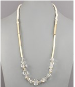 Warm gold and ivory necklace