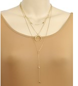 Load image into Gallery viewer, Cresent Double Necklace
