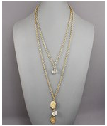 Crystal Clear double gold necklace