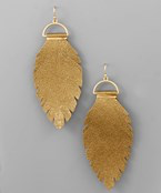 Gold Leaf and Wire Earrings