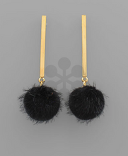 Load image into Gallery viewer, Puff and Gold Earrings