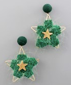 Yarn Wrapped Stars Earrings