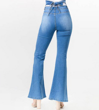 Load image into Gallery viewer, Tiffany Tie Jeans with Flare