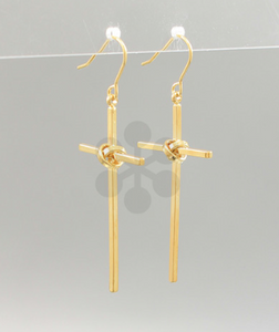 Knot Cross Earrings